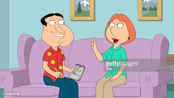 Lois tries to help Quagmire elevate his dating game as he courts a middleaged woman in the Island Adventure episode of FAMILY GUY airing Sunday March...