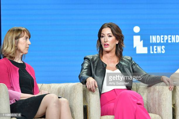 Lois Vossen and Shannon Rayner of Made In Boise speak during the 2019 Summer TCA press tour at The Beverly Hilton Hotel on July 30 2019 in Beverly...
