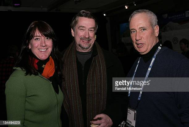 Lois Vossen of PBS, Director of Sundance Film Festival Geoffrey Gilmore and Chief Content officer of PBS John Boland attend the PBS Reception at the...