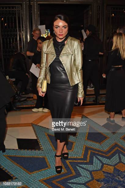 Lois Winstone attends the Pam Hogg front row during London Fashion Week September 2018 at The Freemason's Hall on September 14 2018 in London England