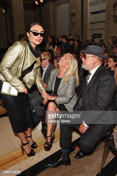 Lois Winstone Elaine Winstone and Ray Winstone attend the Pam Hogg front row during London Fashion Week September 2018 at The Freemason's Hall on...