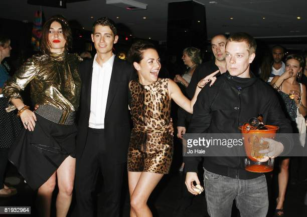 Lois Winstone, Julian Morris, Jaime Winstone, Alfie Allen attend the Donkey Punch London Premiere Party at No 1 Leicester Square on July 14, 2008 in...