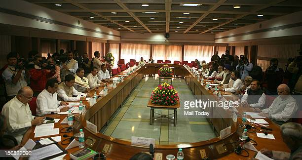 Lok Sabha Speaker Meira Kumar convenes an all party meeting ahead of the Winter Session of Parliament in New Delhi on Wednesday