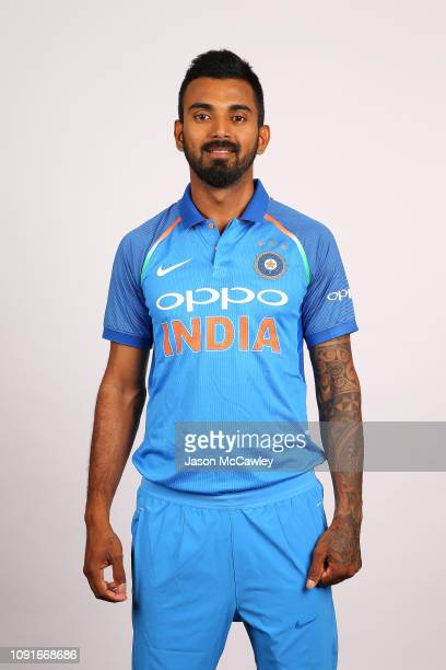 Lokesh Rahul poses during the India Men's ODI Headshots Session on January 09 2019 in Sydney Australia