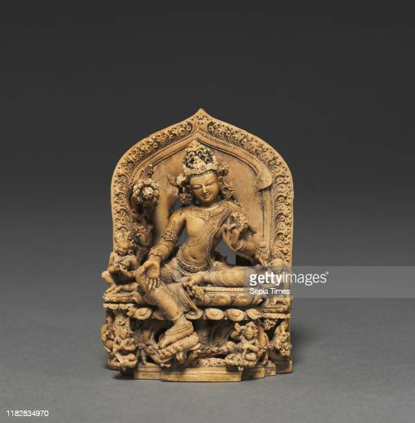 Lokesvara Khasarpana form of Avalokitesvara, late 11th century. India, Nalanda, Pala Period . Steatite; overall: 7.7 cm .