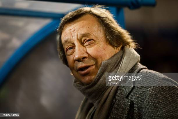 Lokomotiv Moscow head coach Yuri Semin smiles during the Russian Football League match between FC Tosno and FC Lokomotiv Moscow on December 11 2017...