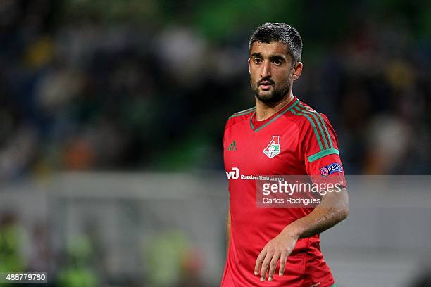Lokomotiv's forward Aleksandr Samedov during the match between Sporting CP and Locomotive Moscow for UEFA Europe League Group Round on September 17...