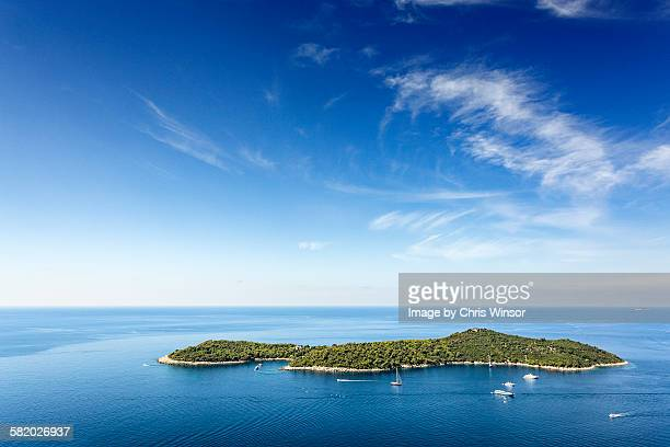 lokrum island - adriatic sea stock pictures, royalty-free photos & images