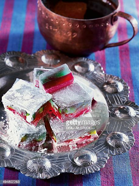 Lokum also known as Turkish delight confection made from sugar and gel starch Turkey