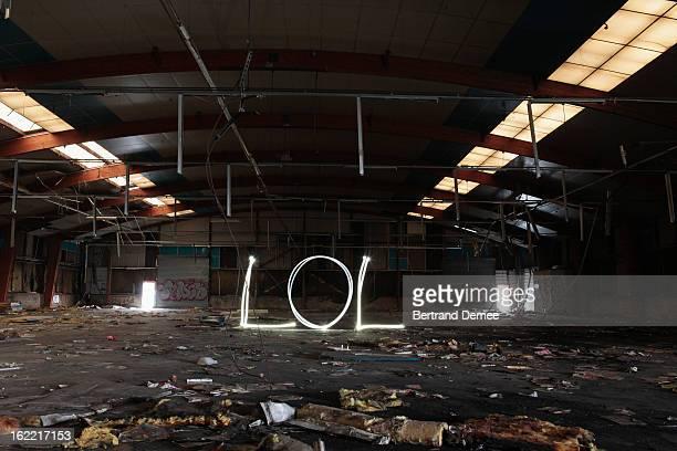 'Lol' written in light