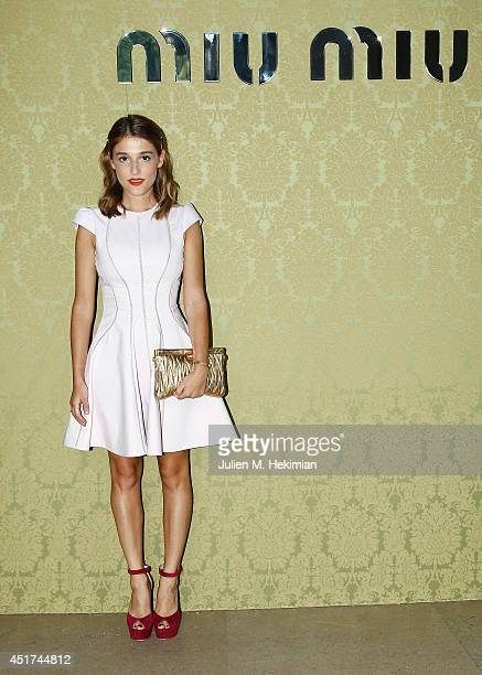 Lola Bessis attends the Miu Miu Resort Collection 2015 at Palais d'Iena on July 5 2014 in Paris France