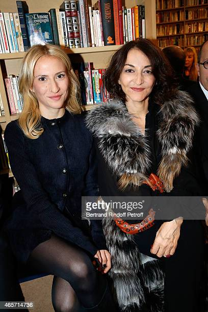 Lola Burstein and mother Nathalie Rykiel attends the Sonia Rykiel show as part of the Paris Fashion Week Womenswear Fall/Winter 2015/2016 on March 9,...