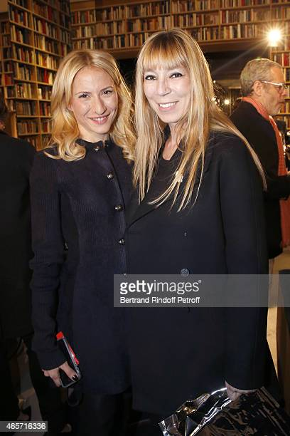 Lola Burstein and Victoire de Castellane attend the Sonia Rykiel show as part of the Paris Fashion Week Womenswear Fall/Winter 2015/2016 on March 9,...