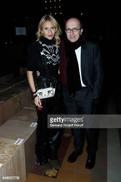 Lola BursteinRykiel and CEO of Sonia Rykiel JeanMarc Loubier attend the Sonia Rykiel show as part of the Paris Fashion Week Womenswear Fall/Winter...