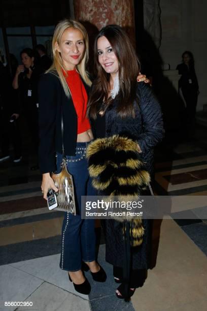 Lola BursteinRykiel and Hedieh Loubier attend the Sonia Rykiel show as part of the Paris Fashion Week Womenswear Spring/Summer 2018 on September 30...