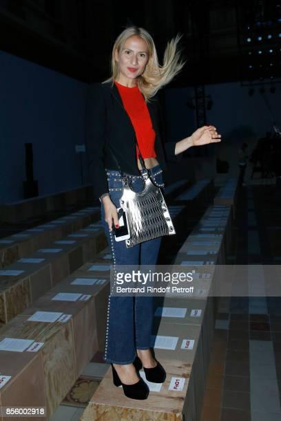 Lola Burstein-Rykiel attends the Sonia Rykiel show as part of the Paris Fashion Week Womenswear Spring/Summer 2018 on September 30, 2017 in Paris,...