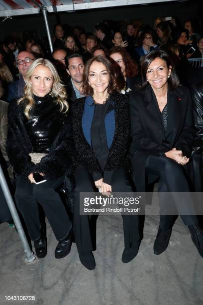 Lola BursteinRykiel her mother Nathalie Rykiel and Mayor of Paris Anne Hidalgo attend the Inauguration of the Allee Sonia Rykiel by the Mayor of...