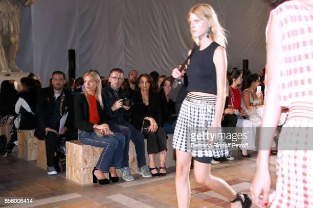 Lola Burstein-Rykiel, Loic Prigent and Nathalie Rykiel attend the Sonia Rykiel show as part of the Paris Fashion Week Womenswear Spring/Summer 2018...