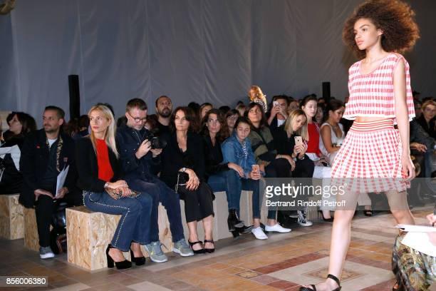 Lola Burstein-Rykiel, Loic Prigent, Nathalie Rykiel and Mademoiselle Agnes Boulard attend the Sonia Rykiel show as part of the Paris Fashion Week...