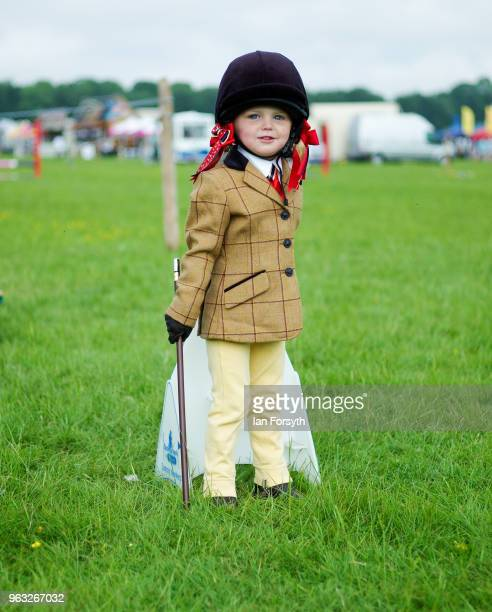 Lola Carabine from Scarborough waits for her round to compete during the Duncombe Park Country Fair on May 28 2018 in Helmsley England Set in the...