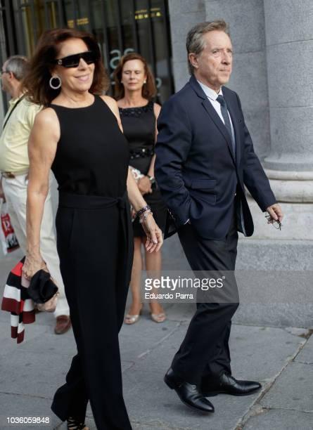 Lola Carretero and Inaki Gabilondo are seen on September 19 2018 in Madrid Spain