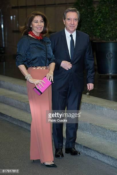 Lola Carretero and Inaki Gabilondo attend the Mario Vargas Llosa 80th birthday party at the Villa Magna hotel on March 28 2016 in Madrid Spain