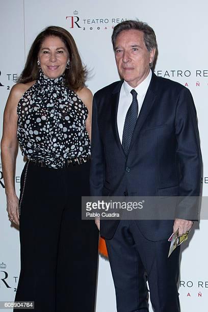 Lola Carretero Herranz and Inaki Gabilondo attend the inaguration of the Royal Theatre Season on September 15 2016 in Madrid Spain