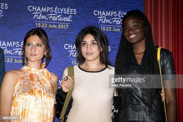 Lola Creton Camelia Jordana and Karidja Toure attend the 6th 'ChampsElysees Film Festival' at Cinema Gaumont Marignan on June 15 2017 in Paris France