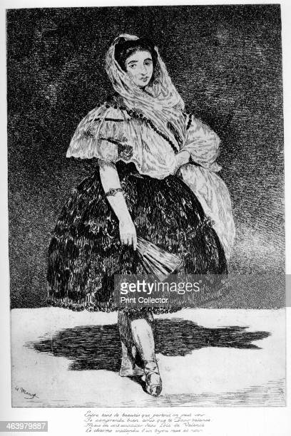'Lola de Valence' c18501880 A print from A History of French Etching from the 16th Century to the Present Day by F L Leipnik John Lane the Bodley...