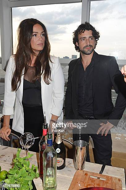 Lola Dewaere and a guest attend the 'Ma Terrazza' : Cocktail Party at the Electric Club on June 18, 2015 in Paris, France.