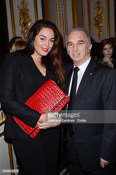 Lola Dewaere and Alain Terzian attend Chaumet's Cocktail Party and Dinner for Cesar's Revelations 2013 in Paris