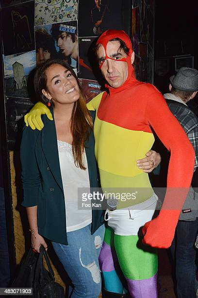 Lola Dewaere and Nicolas Ullmann attend the 'HMan' TV Serial Release Party At The Bus Palladium on April 5 2014 in Paris France