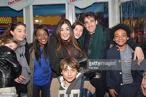 Lola Dewaere; and Nicolas Ullmann pose with friends during 'La Foire du Trone 2015' : Launch Party At Pelouse De Reuilly in Benefit of Le Secours...