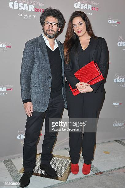 Lola Dewaere and Radu Mihaileanu attend 'Cesar's Revelations 2013' Dinner Arrivals at Le Meurice on January 14, 2013 in Paris, France.