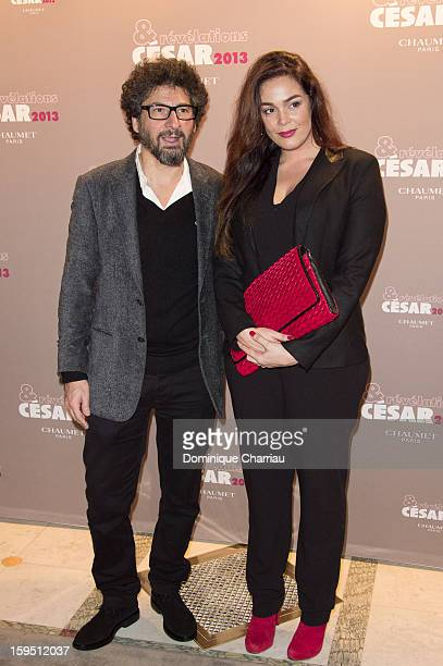 Lola Dewaere and Radu Mihaileanu attend the 'Cesar's Revelations 2013' Dinner Arrivals at Le Meurice on January 14 2013 in Paris France