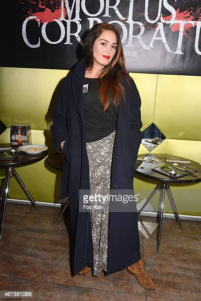 Lola Dewaere attends the 'Mortus Corporatus Saison 1' screening party at Paname Art Cafe on March 23, 2015 in Paris, France.
