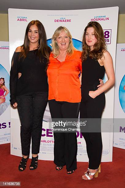 Lola Dewaere Charlotte de Turckheim and her daughter Julia Piaton attend at UGC Cine Cite des Halles on March 20 2012 in Paris France