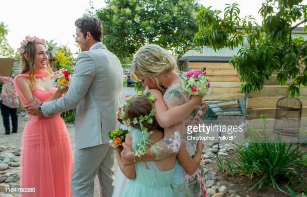 Lola Facinelli Dave Abrams Fiona Facinelli and Jennie Garth are seen at a private residence July 11 2015 in Santa Ynez California