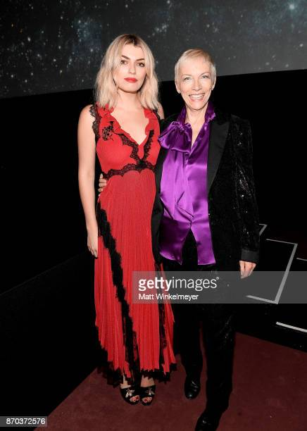 Lola Fruchtmann and musician Annie Lennox wearing Gucci attend the 2017 LACMA Art Film Gala Honoring Mark Bradford and George Lucas presented by...