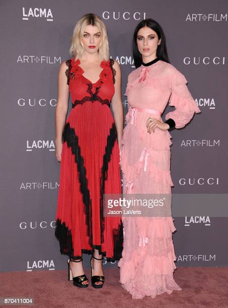 Lola Fruchtmann and Tali Lennox attend the 2017 LACMA Art Film gala at LACMA on November 4 2017 in Los Angeles California