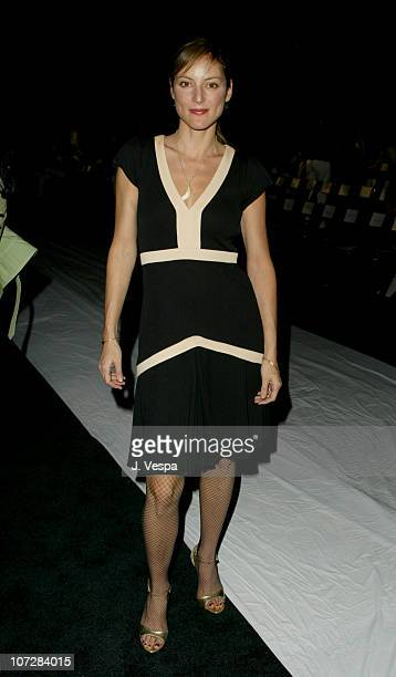 Lola Glaudini during 2003 Smashbox Fashion Week Los Angeles As Four Spring Collection 2004 Front Row and Audience at Smashbox Studios in Culver City...
