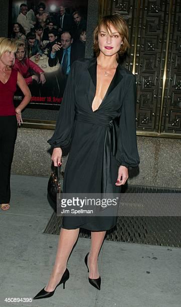 Lola Glaudini during The Sopranos 4th Season Premiere at Radio City Music Hall in New York City New York United States