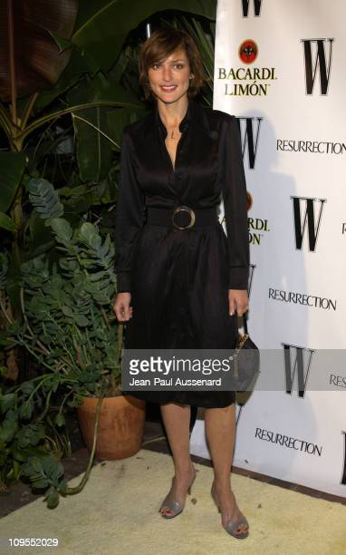 Lola Glaudini during W Magazine and Bacardi Limon Host a Tribute to Vintage Fashion Arrivals at Chateau Marmont in Los Angeles California United...