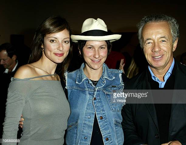 Lola Glaudini Nina Garduno and Gilles Bensimon during Elle Magazine Party Sponsored by Motorola at the Gagosian Gallery at Gagosian Gallery in...