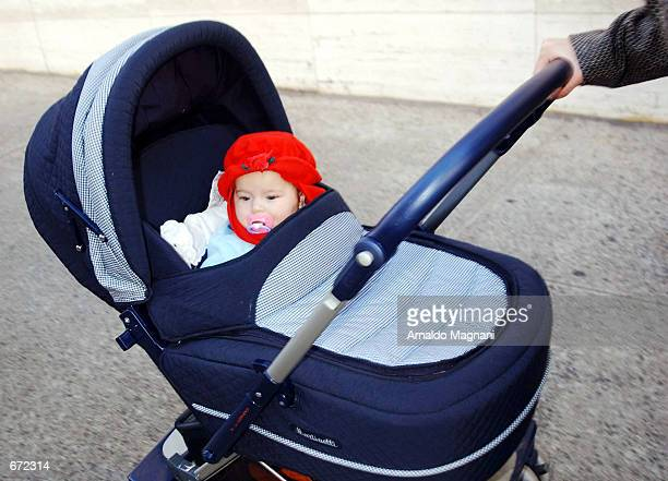 Lola Grace the fivemonthold daughter of Kelly Ripa of Live With Regis and Kelly arrives at Lincoln Center with her mother for a gala benefitting Paul...