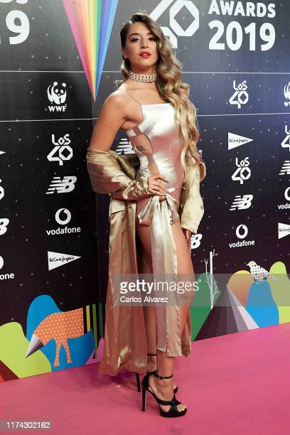 Lola Indigo attends the 40 Principales Awards nominated dinner at Florida Retiro on September 12 2019 in Madrid Spain