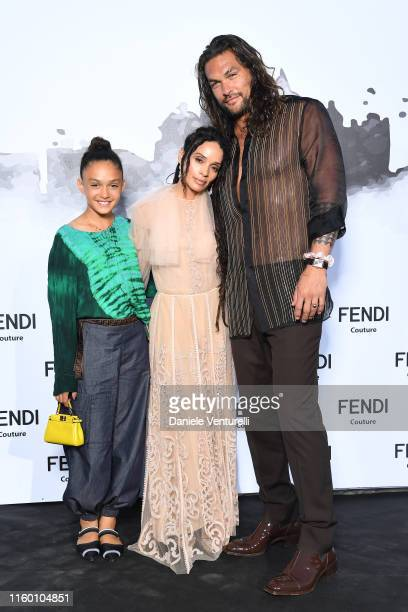 Lola Iolani Momoa Lilakoi Moon and Jason Momoa attend the Cocktail at Fendi Couture Fall Winter 2019/2020 on July 04 2019 in Rome Italy