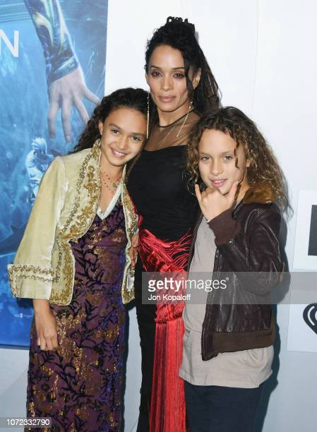 Lola Iolani Momoa Lisa Bonet and NakoaWolf Manakauapo Namakaeha Momoa attend the premiere of Warner Bros Pictures' Aquaman at TCL Chinese Theatre on...