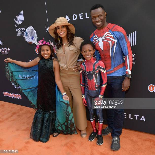 Lola Jolie Thomas Aonika Laurent Luc Laurent Thomas and Sean Patrick Thomas attend the 2018 GOOD Foundation's 3rd Annual Halloween Bash presented by...