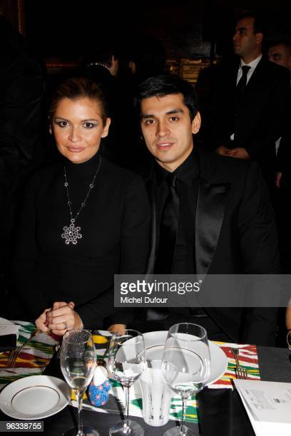 Lola Karimova and Her husband attend the Gala Dinner for Association AVEC at Chateau de Versailles on February 1 2010 in Versailles France